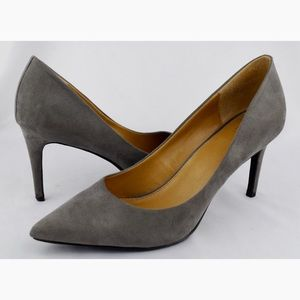 14TH &UNION Gray Suede Stiletto High Heels Pumps